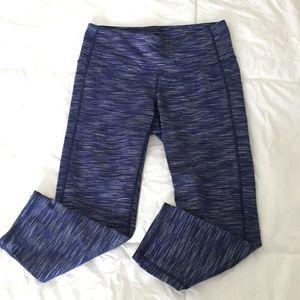 Athleta Crop Legging Space dye blue